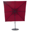 Sundale Outdoor 10ft Square Offset Hanging Umbrella Market Patio Umbrella Aluminum Cantilever Pole w/Stylish Dual Wind Vent, Cover, Crank Lift and Corss Frame, 360°Rotation, for Garden,Backyard, Red