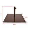 Sundale Outdoor 40 lbs Heavy Duty Square Steel Plate Stand Patio Umbrella Base, Coffee