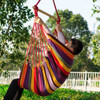 TOUCAN OUTDOOR Hanging Rope Chair, Hammock Swing Chair with Pillow Set, Rainbow