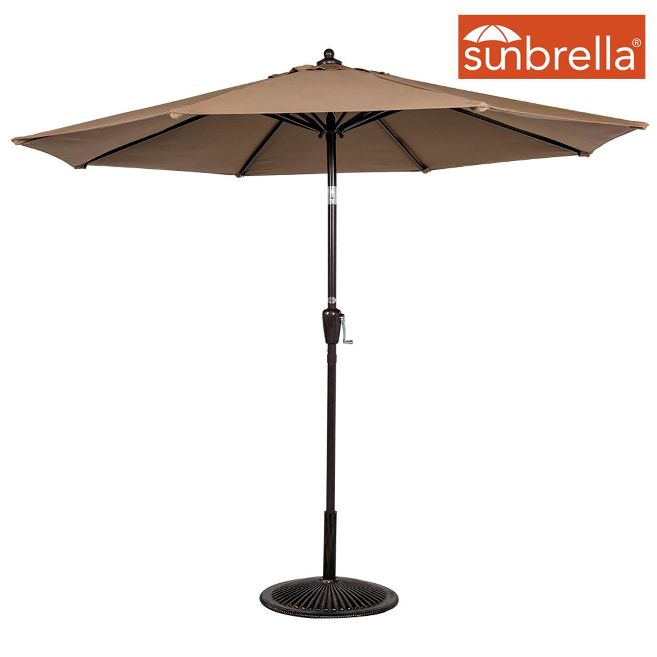 5340d30c36c1 8.2 Ft Sunbrella® acrylic Patio Garden Outdoor Market Umbrella,Push Button  Tilt and Crank (Camel)