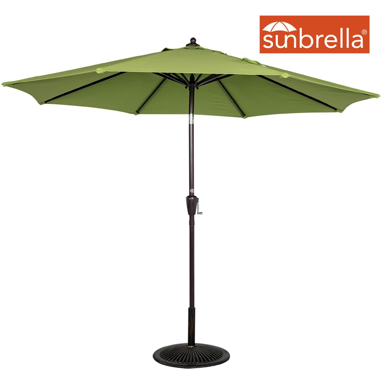 0327e44b57dc 9 Ft Sunbrella® Fabric Patio Garden Outdoor Market Umbrella ,Push Button  Tilt and Crank (Macaw Green)