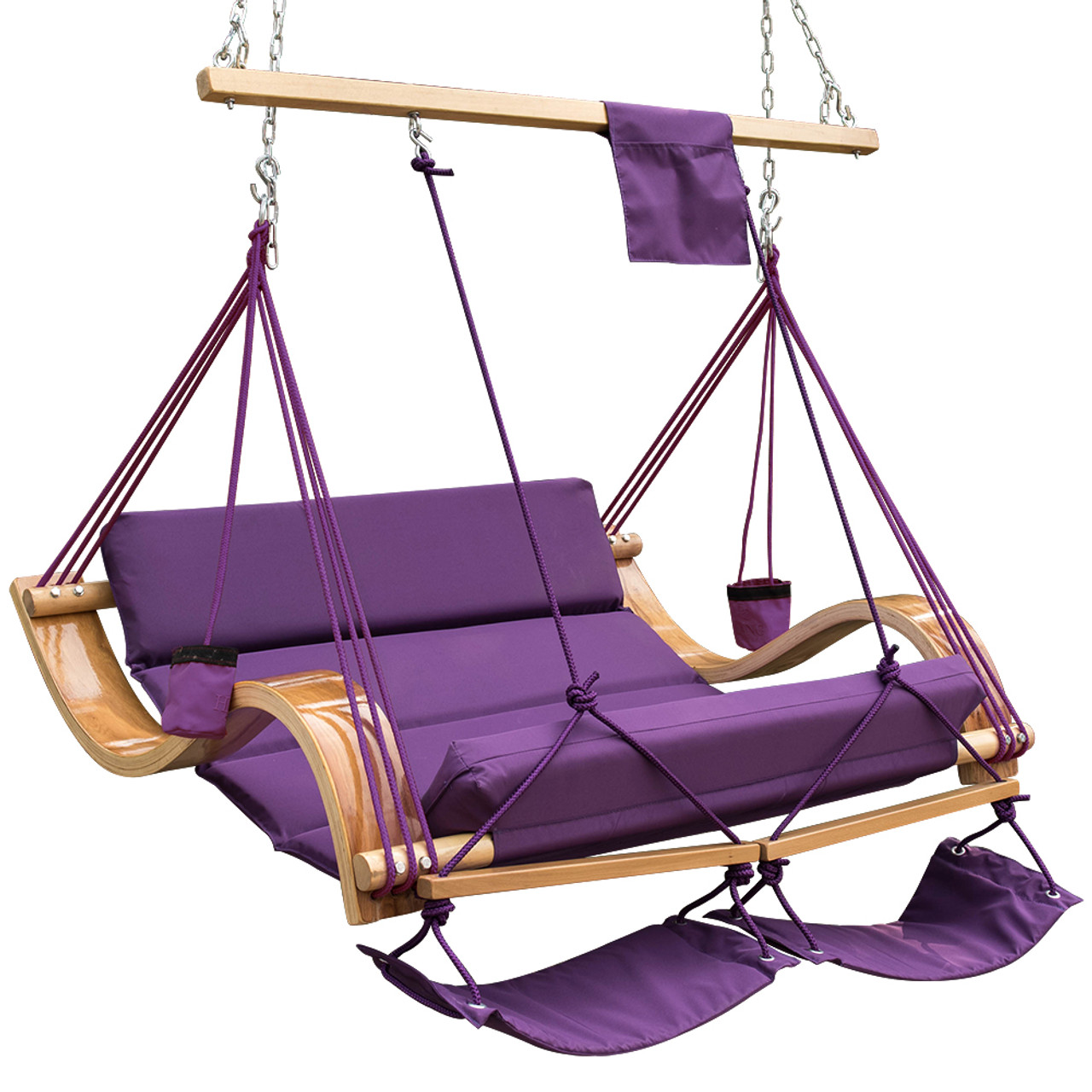 Patio Garden Outdoor Deluxe Oversized Double Hanging Hammock Lounger