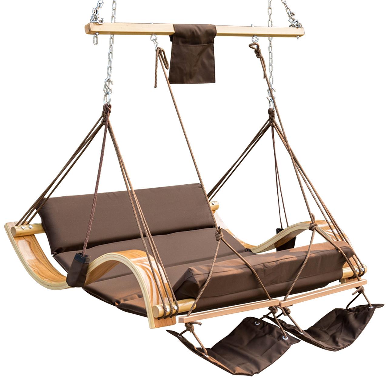 Patio Garden Outdoor Deluxe Oversized Double Hanging Hammock Lounger