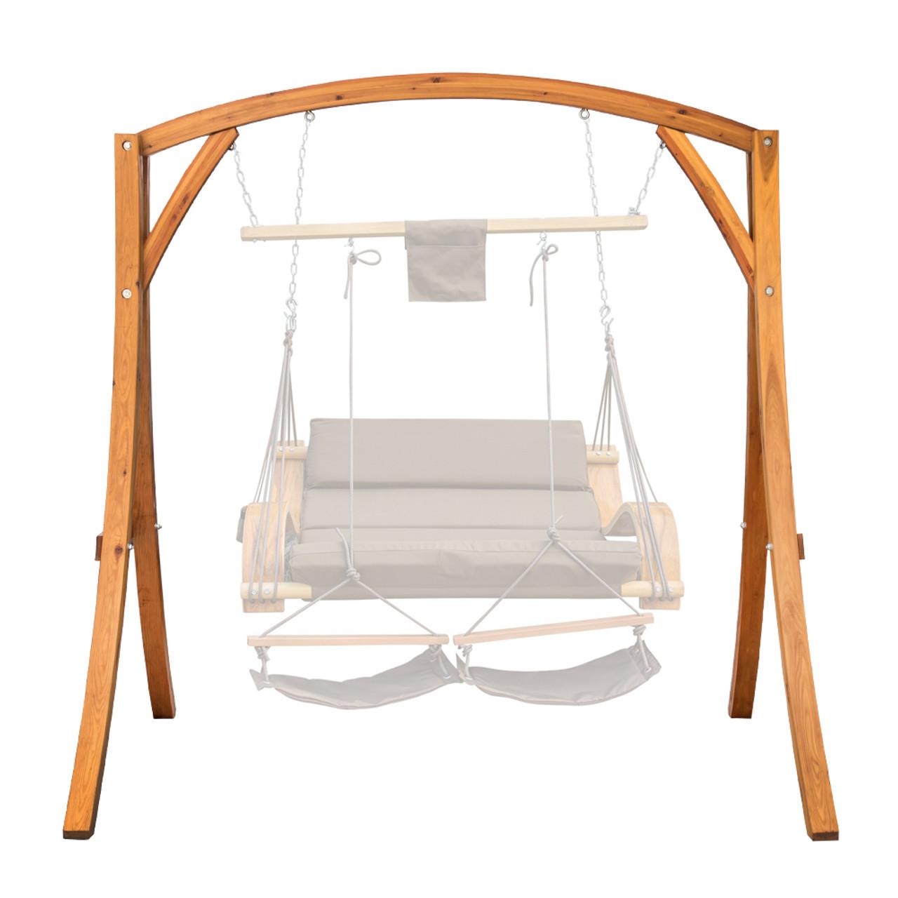 Lazy Daze Hammocks Deluxe Wooden Arc Frame Hammock Swing Chair Stand