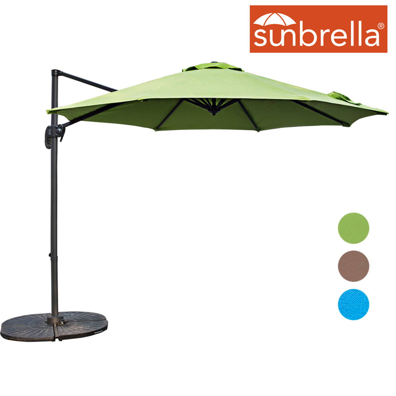 c428a1e947b4e Sundale Outdoor 10ft Sunbrella® Fabric Offset Hanging Umbrella Market Patio  Umbrella Aluminum Cantilever Pole with