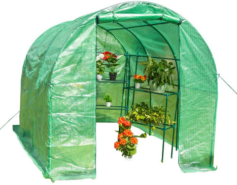 """Sundale Outdoor Large Gardening Walk in Green House, with Waterproof PE Cover and Zipper Door, Plant Green House, 116.5"""" x 77.2"""" x 74.8"""""""