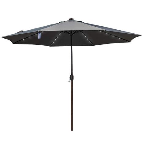 Solar Powered 32 LED, Lighted Outdoor Patio Umbrella