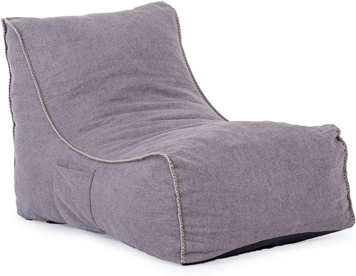 Sundale Floor Lazy Sofa Recliner, Luxurious Video Gaming Chair, Thick Padded Lounge for Meditation, Reading, TV Watching (Gray)