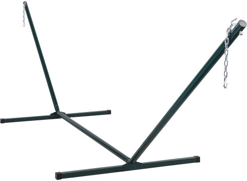 Lazy Daze Hammocks 12 Feet Hammock Stand Heavy Duty Coated Steel Tube Frame with Hooks and Chains, 275 Pounds Weight Capacity
