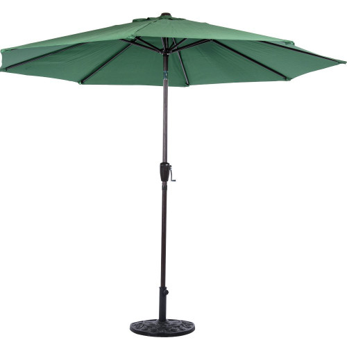 10 Feet Outdoor Aluminum Patio Umbrella(Dark Green)  sc 1 st  Sundale Outdoor & 10 Feet Outdoor Aluminum Patio Umbrella with Auto Tilt and Crank(Yellow)