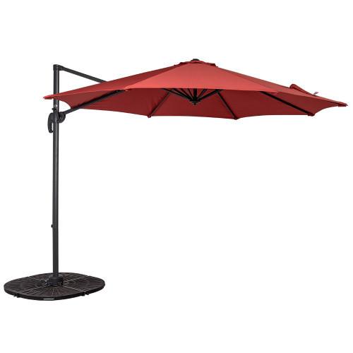 9b4f6197c3d06 10ft Hanging Roma Offset Umbrella(Brick Red)