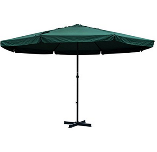 16 Feet Large Market Patio Umbrella with Cross Base(Dark Green)