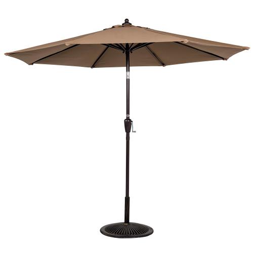 8.2 Ft Sunbrella® acrylic Patio Garden Outdoor Market Umbrella,Push Button Tilt and Crank (Camel)