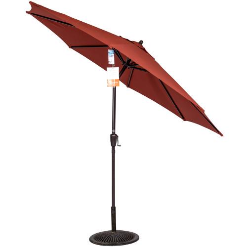 8.2 Ft Sunbrella® acrylic Patio Garden Outdoor Market Umbrella,Push Button Tilt and Crank (Terracotta)