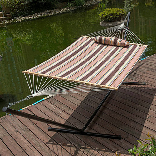 Lazy Daze Hammocks 15 Feet Heavy Duty Steel Hammock Stand , Two Person Quilted Fabric Hammock And Pillow Combo,Brown Stripe �,P,COMBT02D,,Lazy daze Hammocks""
