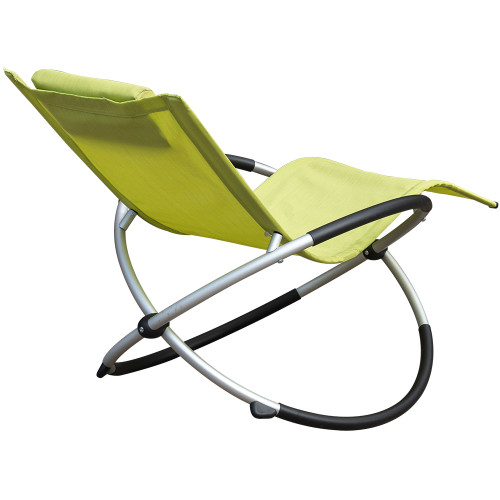 Pleasant Orbital Zero Gravity Folding Rocking Patio Lounge Chair With Pillow Gmtry Best Dining Table And Chair Ideas Images Gmtryco
