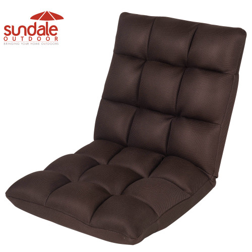 Sundale Outdoor Indoor Adjustable Soft-Brushed Polyester Cord Five-Position Multiangle Folding Chair,Coffee