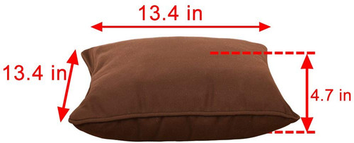 Lazy Daze Hammocks Sunbrella Fabric Throw Pillow for Outdoor Indoor, All Weather and Fade Resistant, 13.4 Inch Long x 13.4 Inch Wide, Canvas Bay Brown