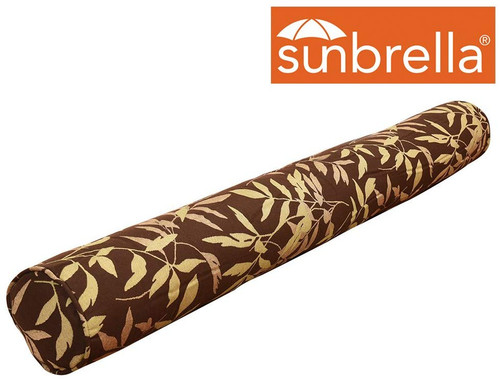 Lazy Daze Hammocks Sunbrella Head Pillow for Two Person Outdoor Indoor, All Weather and Fade Resistant, 48.4 Inch Long x 5.9 Inch Wide, Brown Leaves