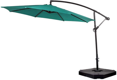 Sundale Outdoor Heavy Duty Plastic Water Sand Base Weight Universal Cantilever Umbrella Stand, 185/350 Lbs, 4 Pieces