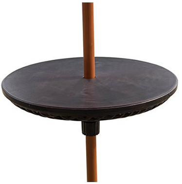Bliss Umbrella Table Beach Patio Accessory Table 23in Diameter Black