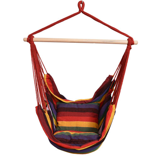 Brilliant Toucan Outdoor Hanging Rope Chair Hammock Swing Chair With Pillow Set Rainbow Gmtry Best Dining Table And Chair Ideas Images Gmtryco