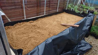 Rainy Day, new propagating bench