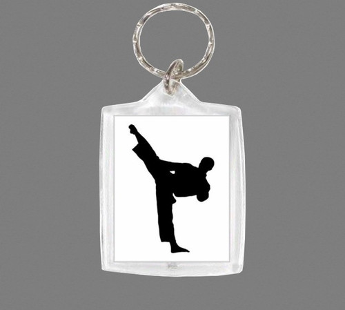 Keyring- Martial Arts Figure- Rectangle