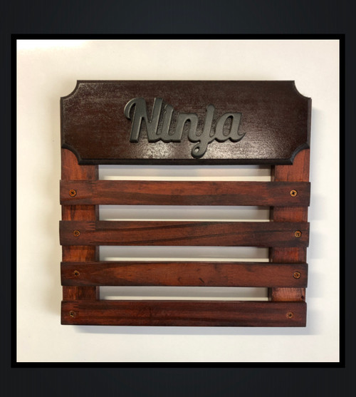 Medal Display with 4 Wooden Bars- Personalise with Name