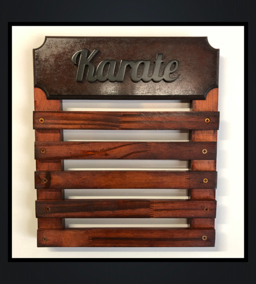 Medal Display with 5 Wooden Bars- Personalise with Name