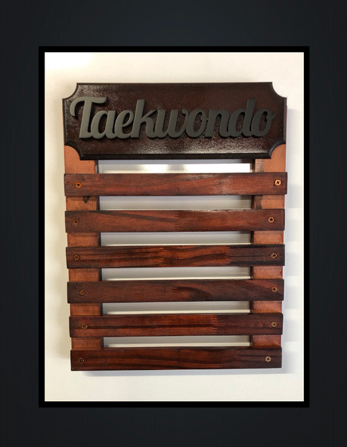 Medal Display with 6 Wooden Bars- Personalise with Name