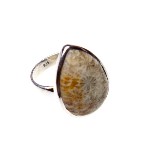 Fossil Coral Ring Size 8.25 #0273