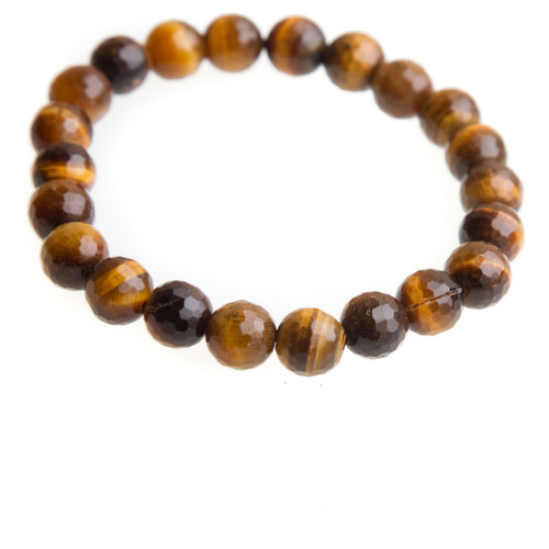 Tiger Eye Stretch Bracelet with 8mm Beads #0505