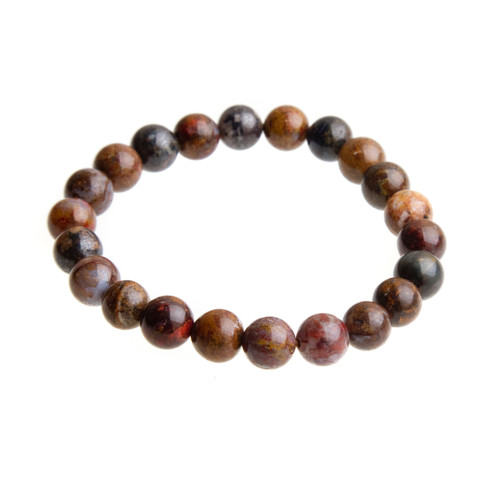 Pietersite Stretch Bracelet with 8mm Beads #0508
