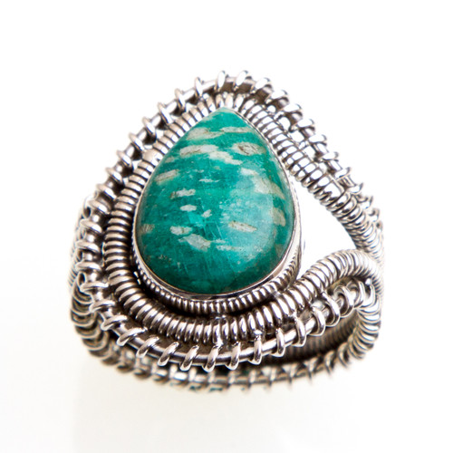 Amazonite Ring  Size 9.5 #0549