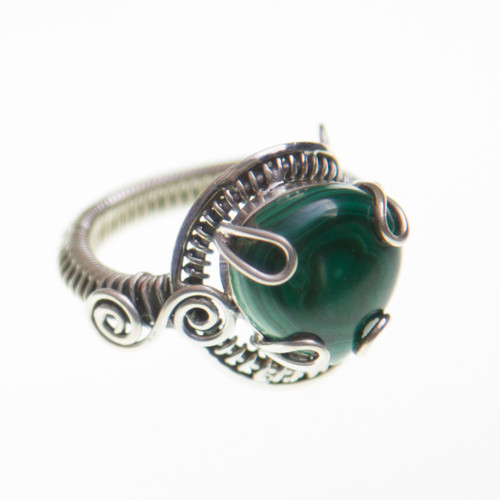 Malachite Ring Size 10.5 #0556