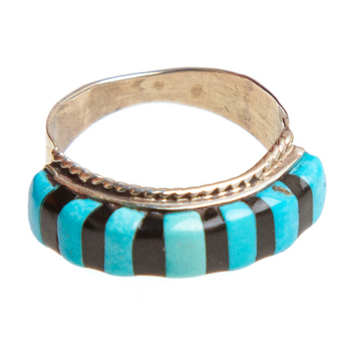 Native American Inlay Ring Size 5 #0728