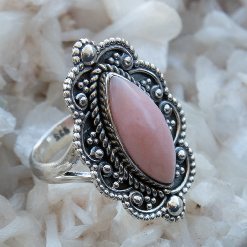 Pink Opal Ring Size 8.25 #0986
