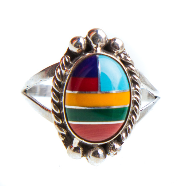 Native American Inlay Ring Size 10 #0882