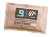 """Single Pack Uses: Humidity control (1) Boveda 60g/25 cigars in your humidor  Merchandising: Use with Boveda Wire Retail Display Rack Cross-sell with: Boveda Metal and Wood Holders   Replace: When Boveda begins to get rigid Shelf Life in Original Packaging: 2 years Retail Carton Dimensions: 5.75""""x 3.75""""x 4.5"""" Individual Dimensions: 5.25"""" x 3.5""""WHY BOVEDA 60 GRAM FOR CIGARS? Spreads the power of Boveda throughout a humidor:  Tuck Boveda under the shelves Affix Boveda to the lid with a Boveda Metal or Wood Holder Toss Boveda among smokes WHY BOVEDA FOR PREMIUM CIGARS? NO MORE MESSING WITH:  Wet sponges PG solutions Gels Beads NO MORE HALF-WAY:  1-way humidifiers only do half the job—ADD moisture. (And can over-humidify cigars.)  NO MORE GUESSING: Boveda is precise, complete and easy cigar care.  Just toss Boveda in and watch it work Automatically adds AND absorbs moisture with Boveda's patented 2-way humidity control Prevents cigars from splitting and bloating Enhances—doesn't change—flavor and aroma WHY BOVEDA 69% RH FOR CIGARS? Achieves and maintains 69% RH level, which is the sweet spot for most premium cigars.  Ideal for:  High-end humidors Airtight humidors Acrylic humidors Boveda Humidor Bags Tupperdors Coolidors Pelican™ travel humidors If your humidor isn't airtight, choose a higher RH level.  Note: Do not mix Boveda RH levels within the same humidor, and do not use Boveda in the same humidor with other humidification products. They will fight against each other and reduce the efficiency of Boveda."""