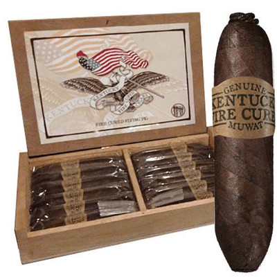 Kentucky Fire Cured is not something new to the world of tobacco, as it has been grown for over 200 years. Easily compared to the smokey taste attributed to a peaty scotch, the KFC picks up nuances of the roasted hickory, oak or maple wood. 4 1/8 x 60