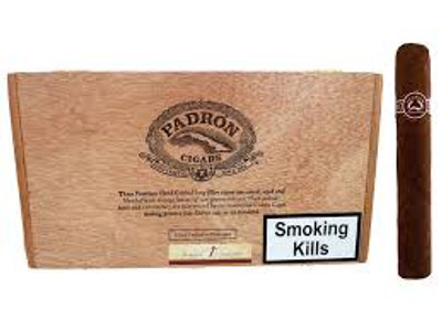 """When it comes to the Padron Maduro, the standard by which all Maduros are measured, the Padron method is unique in that Orlando Padron grows his own Maduro wrapper. This allows the company to hand cultivate and hand pick only the best Cuban seed tobacco leaves in their own field. The Maduro wrappers are then entrusted to their most skilled Cuban trained torcedores. However, before being boxed, the cigars are put aside for a minimum of three years of slow, carefully monitored aging. While there may not be many of the great Padron Maduro cigars, what there are are truly remarkable.   Cigar Profile MILDFULL Strength: Wrapper: Size: Origin: Medium-full Maduro Robusto (5"""" x 50) Nicaragua Single Stick"""