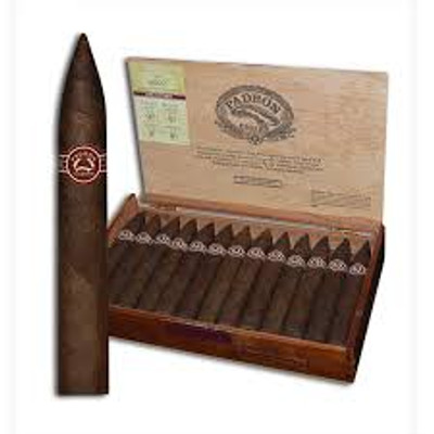 PADRON 6000 Single Stick Of all the main line Padron cigars, the Padron 6000 Maduro is in a class by itself. This slightly box-pressed Torpedo sports a dark Maduro wrapper that shimmers with a mouthwatering patina. A stunning cigar loaded with rich Nicaraguan flavor and Padron's trademark coffee & cocoa bean essences.  FULL SPECIFICATIONS Strength:Full Shape:Torpedo Size:5 1/2 x 52 Country:Nicaragua Color:Maduro Wrapper Origin:Nicaraguan Wrapper Leaf:Habano      Single Stick