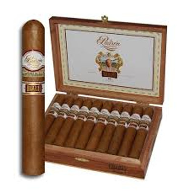 A mild departure.   Ask any group of cigar enthusiasts to name their favorite cigar and you're bound to hear Padron from a few, except for those that prefer a milder cigar. Despite the trend towards fuller-bodied cigars, Connecticut is still king and now with Damaso, Padron enters the milder fray…their way.  Padron Damaso comes lovingly dressed in a silky, elegant Connecticut-seed wrapper sitting atop an enticing blend of Nicaraguan long-fillers. This cigar is mild to medium-bodied, but boasts a richness and depth of flavor that many mild cigars are lacking. Your palate will be electrified with flavors of sweet cream, cedar, pepper, and mild spice. Even if you tend to favor powerhouse cigars, you owe it to yourself to give Padron Damaso a try.  Strength:MILD-MEDIUM Shape:Robusto Wrapper:Connecticut Origin:Nicaragua Flavored:No Pressed:No Has Tip:No Filler:Nicaraguan Sweet:No Single Stick  no12