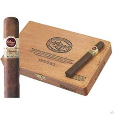 Padron 1964 Anniversary Maduro Exclusivo Single Cigar  The Padron 1964 Anniversary Maduro Exclusivo is a luxurious robusto sized smoke that is lauded throughout the cigar industry. Hand crafted with super-premium four-year aged Nicaraguan tobaccos, the maduro is a sweeter tasting smoke than the natural. A must smoke for true cigar lovers. Full Specifications Strength:Full Shape:Robusto Size:5 1/2 x 50 Country:Nicaragua Color:Maduro Wrapper Origin:Nicaraguan Wrapper Leaf:Habano  96