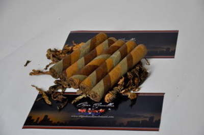 Tampa Blend Triple Barber Pole   Hand Rolled in Tampa Ybor City, Florida  by Master Cuban rollers  using Proprietary Family Blends  the only thing missing is a fancy label  5 pack of cigars  Wrapper: Candela,Habano,Maduro  Filler: Nicaraguan Long Filler  This is a Small batch Production limited supply