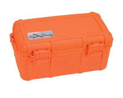 Cigar Caddy 15 stick #3540 Blaze Orange w/Rubber Protective Coating ABS