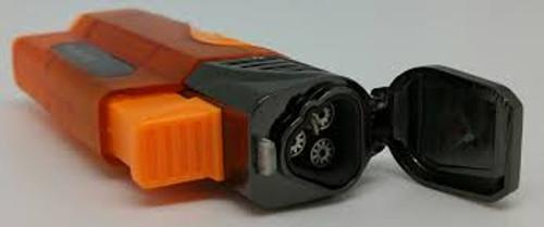 Triple jet torch  Refillable  Child resistant  Adjustable flame