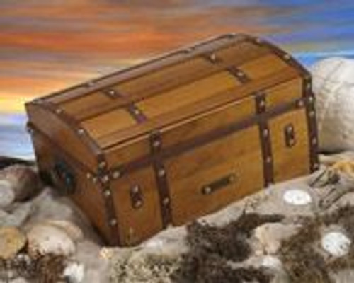 """GoldRush"" 200 Cigar Dome Humidor with Reclaimed wood finish"