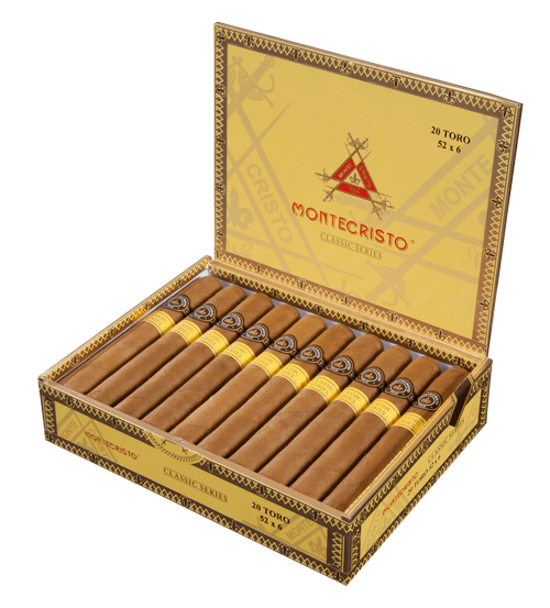 The Montecristo Classic boasts the highest-grade Connecticut Shade wrapper combined with the finest Dominican binder and filler to create a masterpiece of a cigar. The result is an unforgettable smoking experience truly worthy of its name. Given the combination of finest wrapper, binder, and filler, and this one of a kind blend, the Montecristo Classic stands out as a complex and flavorful smoke on the smoother side with bountiful taste notes and an easy draw.